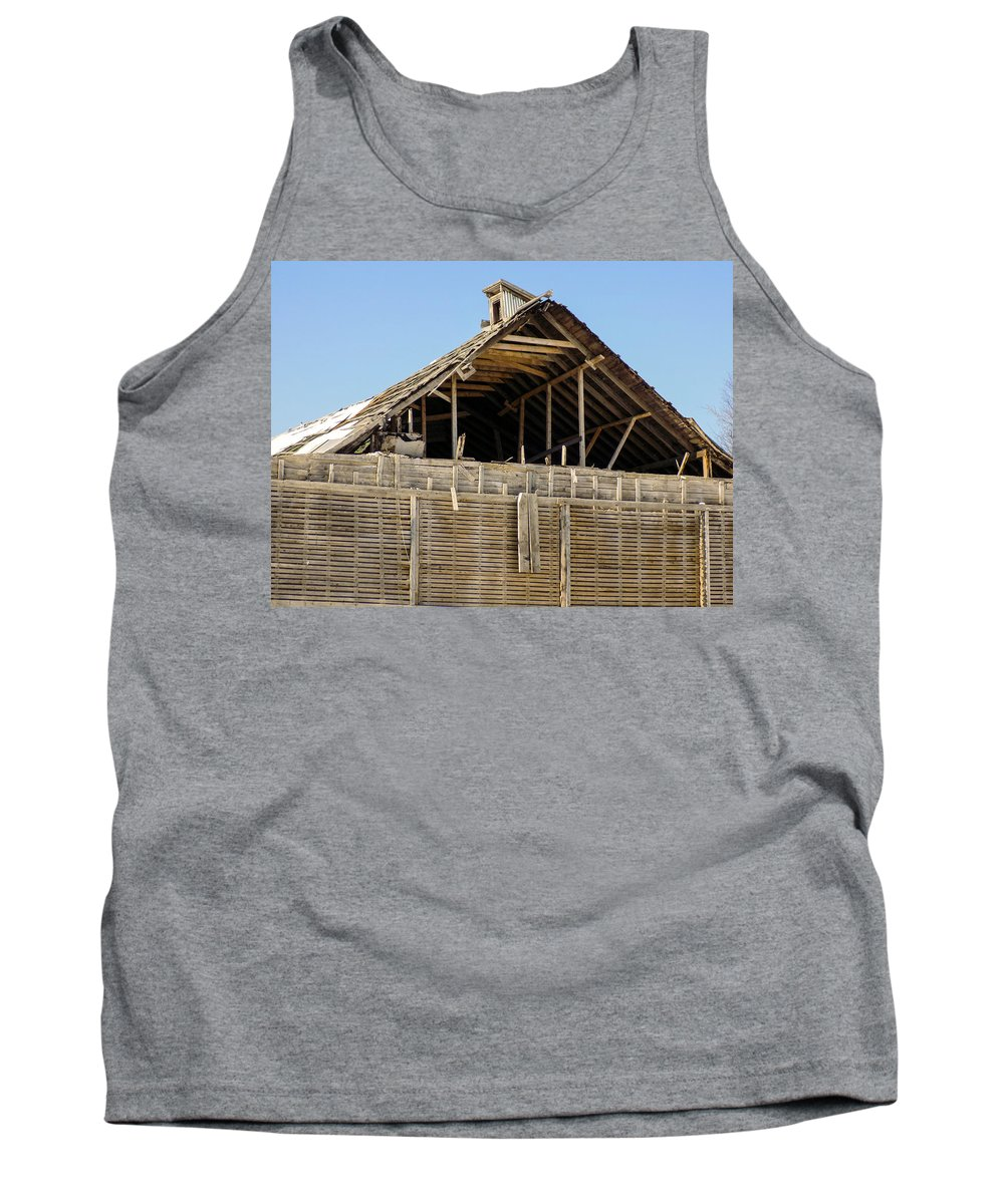 Warehouse Tank Top featuring the photograph Crumbling Exposed Warehouse by William Tasker