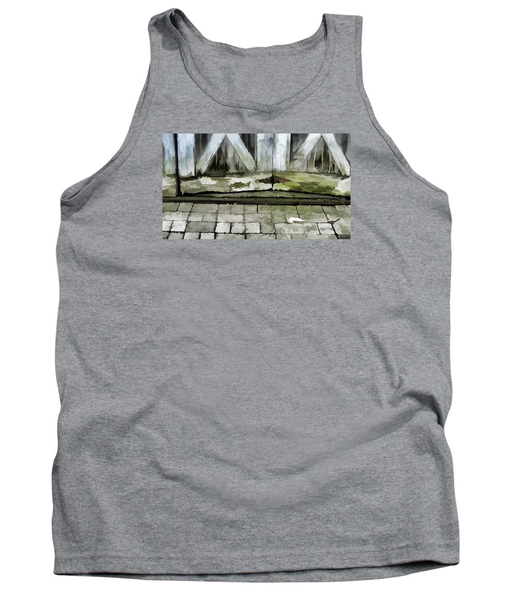 Wood Rot Tank Top featuring the photograph Crumbling Old Door by Ginger Wakem