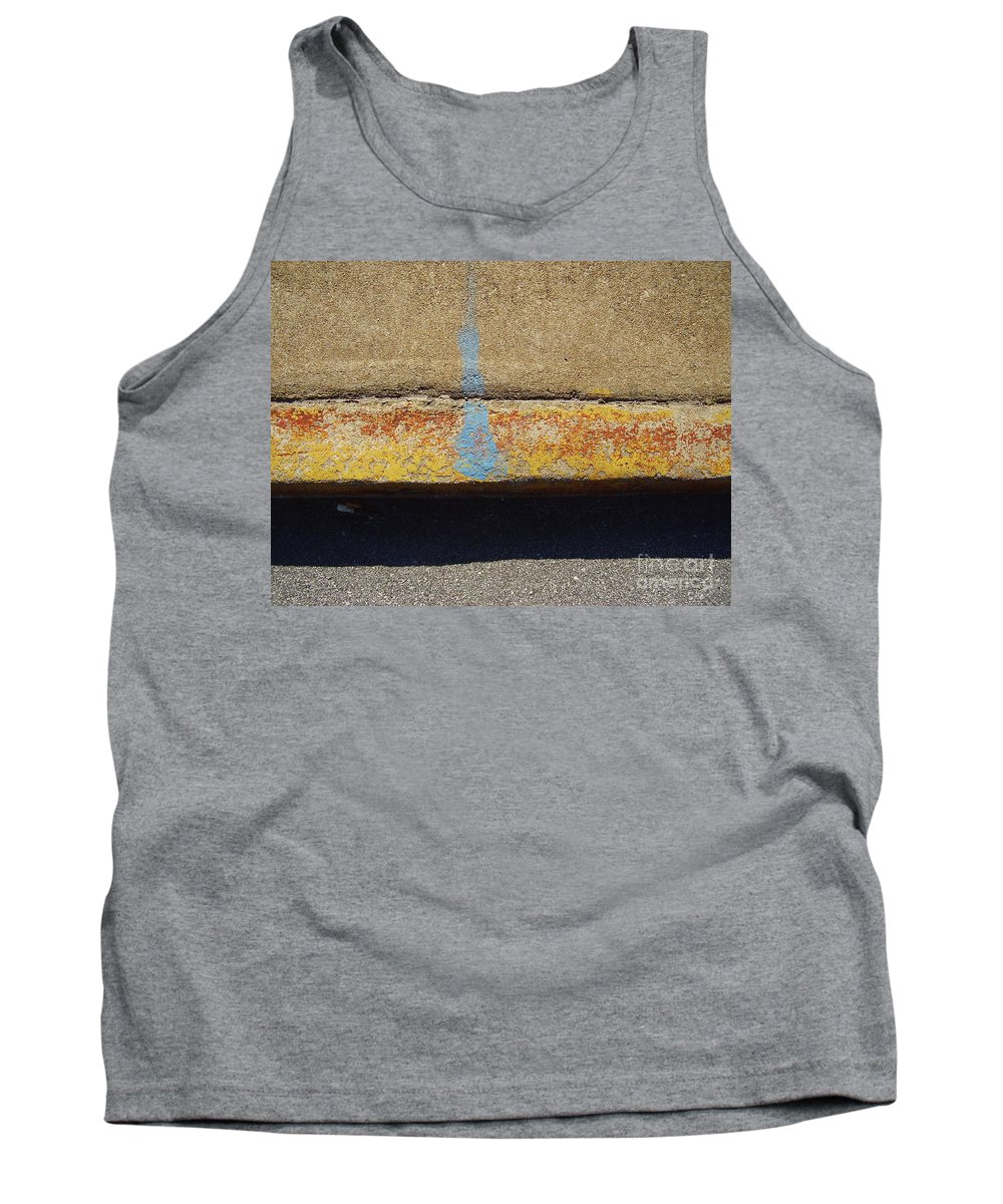 Abstract Tank Top featuring the photograph Curb by Flavia Westerwelle