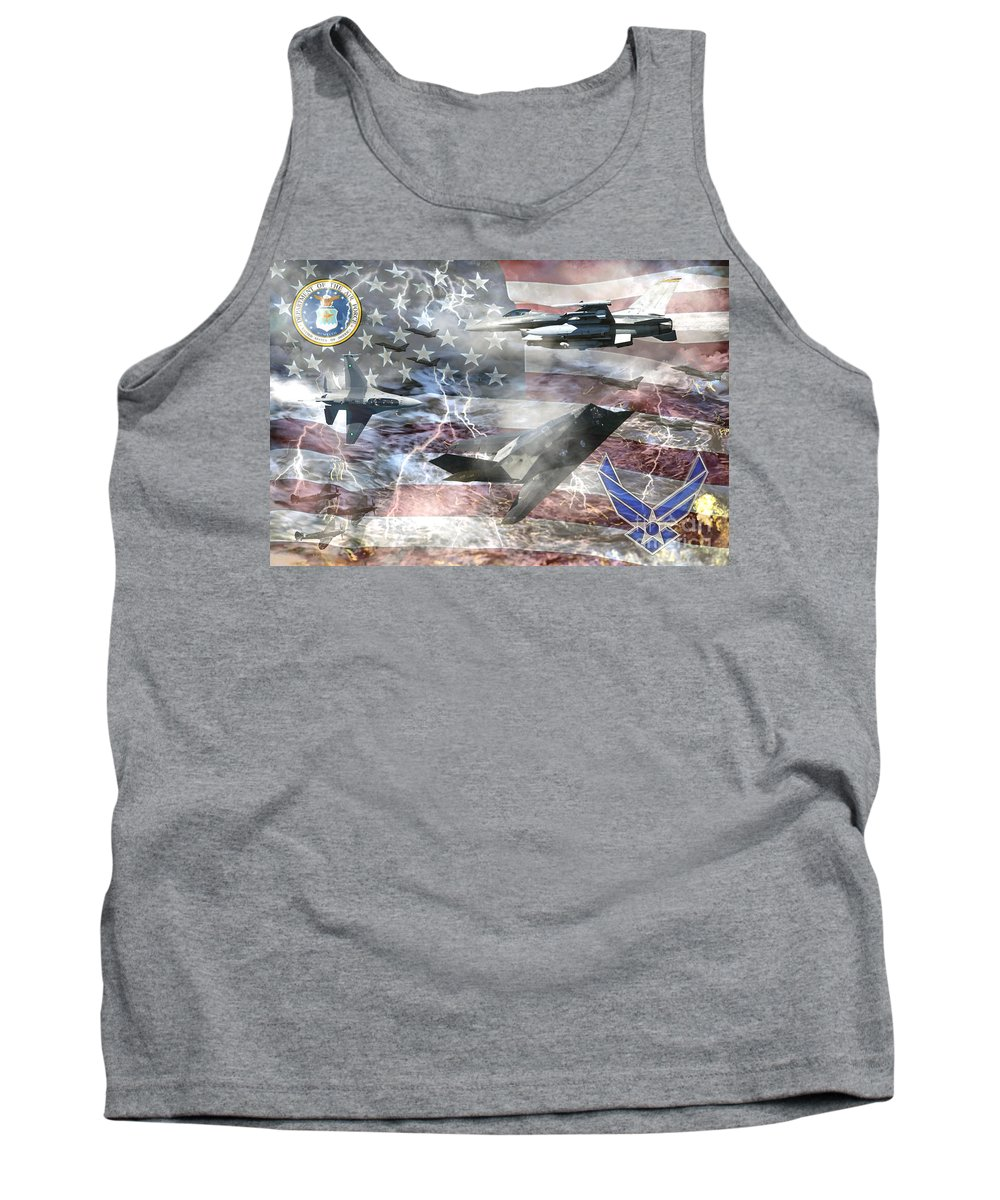 U.s. Military Tank Top featuring the photograph Cutting Edge by Ken Frischkorn