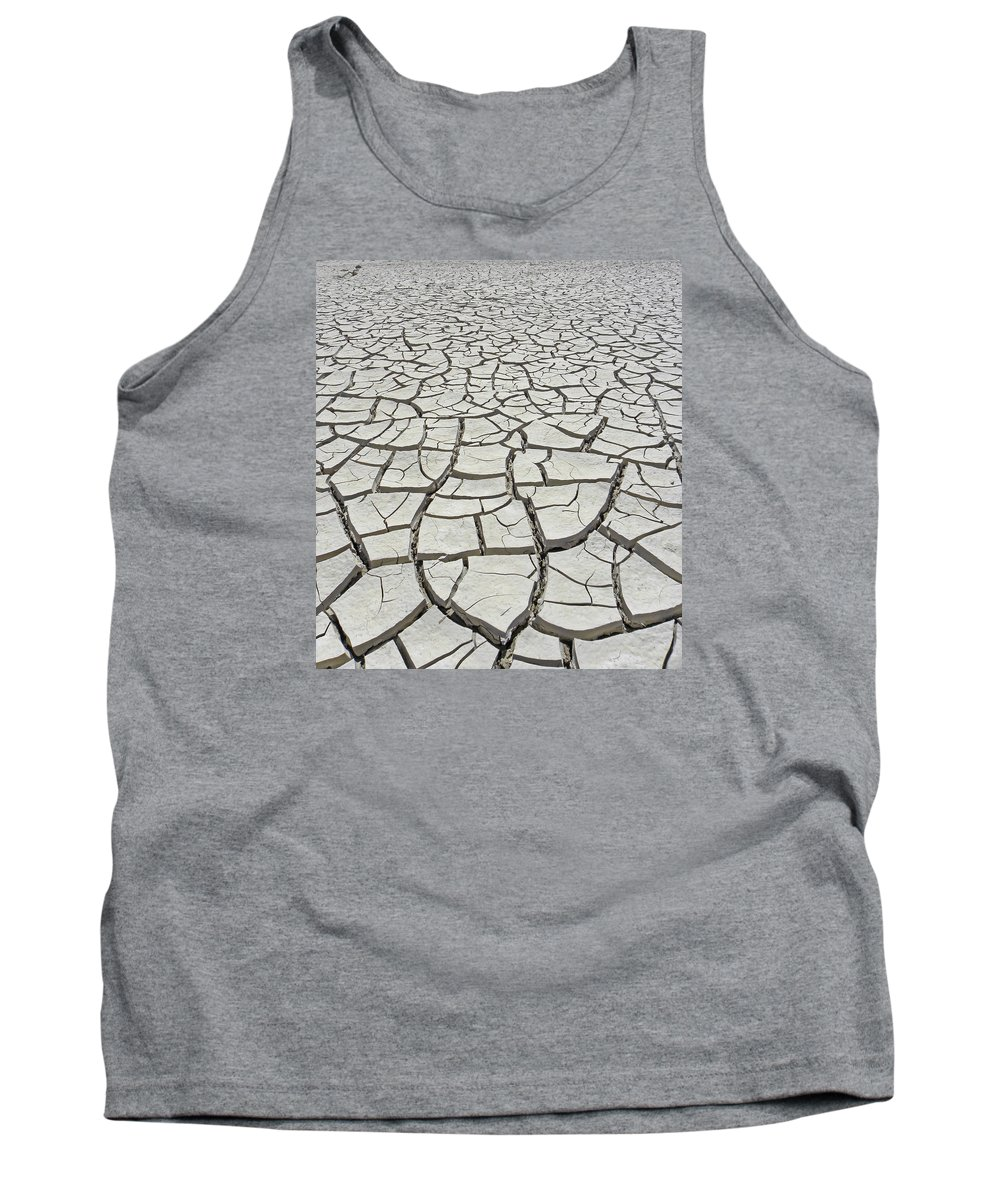 Mud Flats Tank Top featuring the photograph D17845-dried Mud Patterns by Ed Cooper Photography