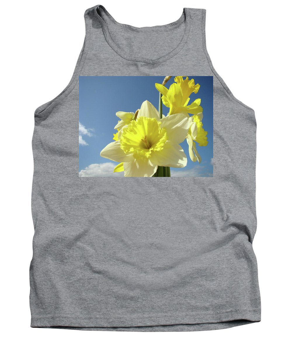 �daffodils Artwork� Tank Top featuring the photograph Daffodil Flowers Artwork Floral Photography Spring Flower Art Prints by Baslee Troutman