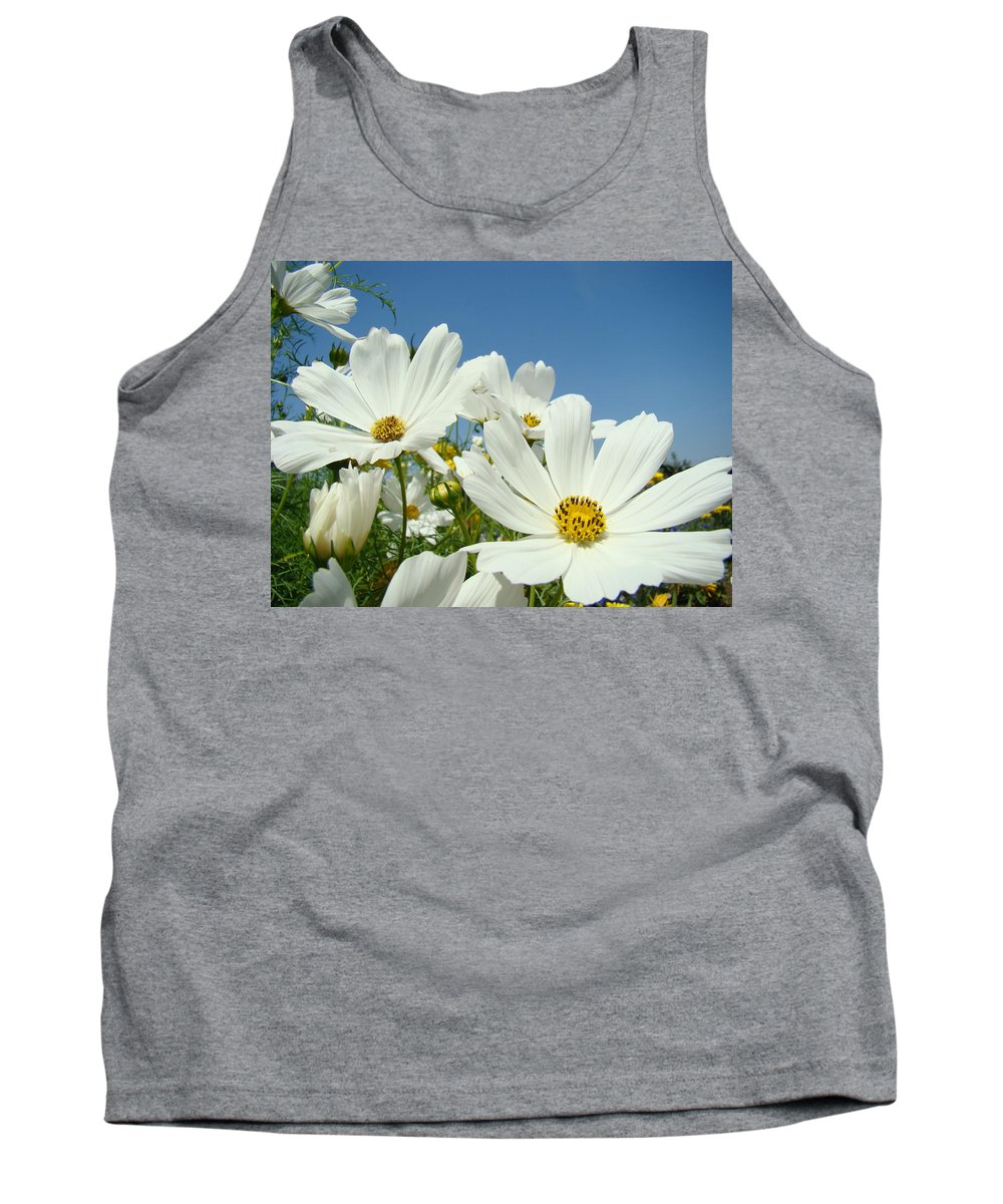 Daisy Tank Top featuring the photograph Daisies Flowers Art Prints White Daisy Flower Gardens by Baslee Troutman