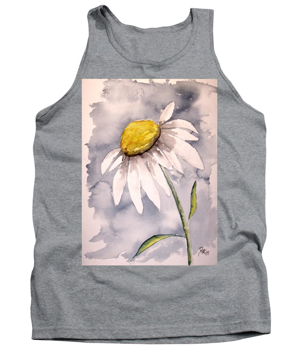 Daisy Tank Top featuring the painting Daisy Modern Poster Print Fine Art by Derek Mccrea