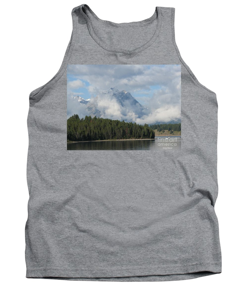 Patzer Tank Top featuring the photograph Dam Clouds by Greg Patzer