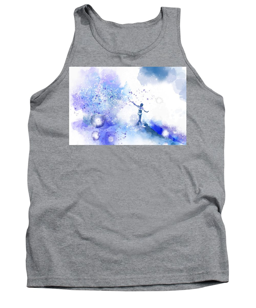 Water Tank Top featuring the digital art Dancer On Water 1 by Nelson Ruger