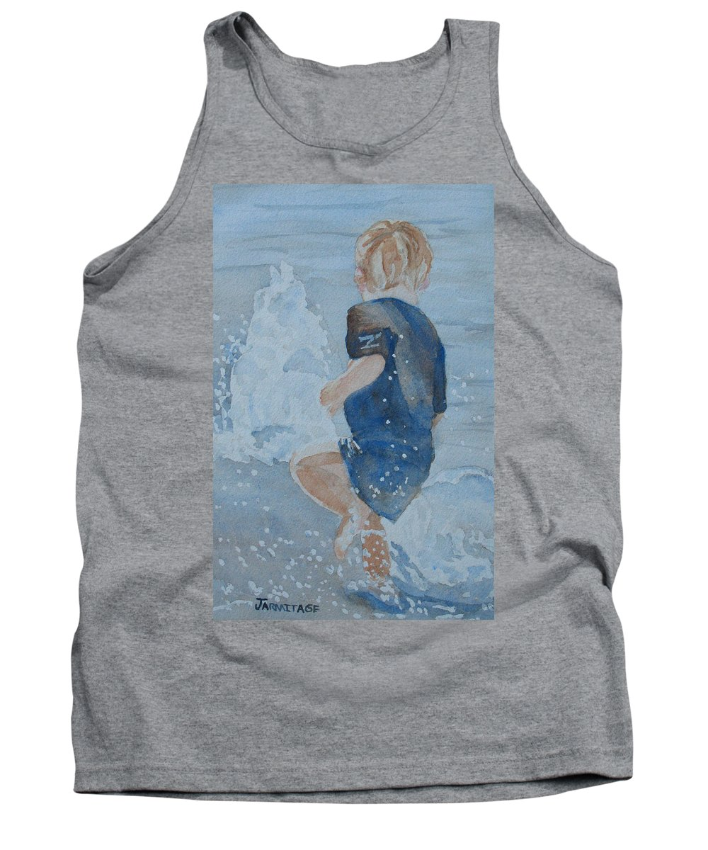 Boy Tank Top featuring the painting Dances With Fountains by Jenny Armitage