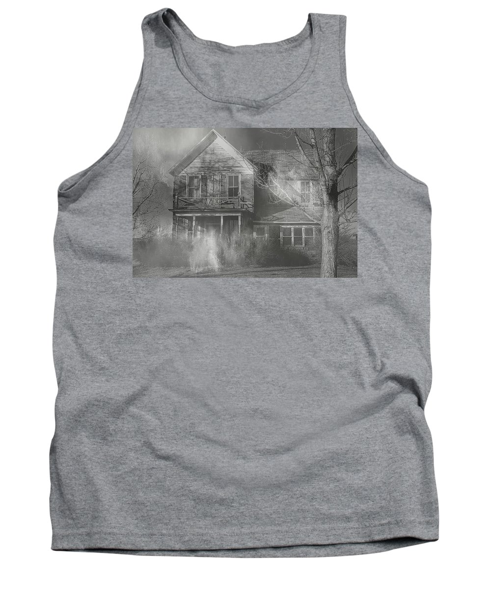 Haunted Tank Top featuring the photograph Dancing Ghosts by Theresa Campbell