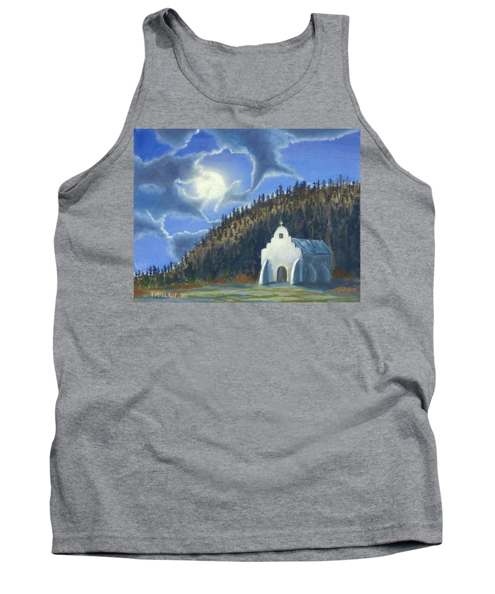 Landscape Tank Top featuring the painting Dancing In The Moonlight by Jerry McElroy