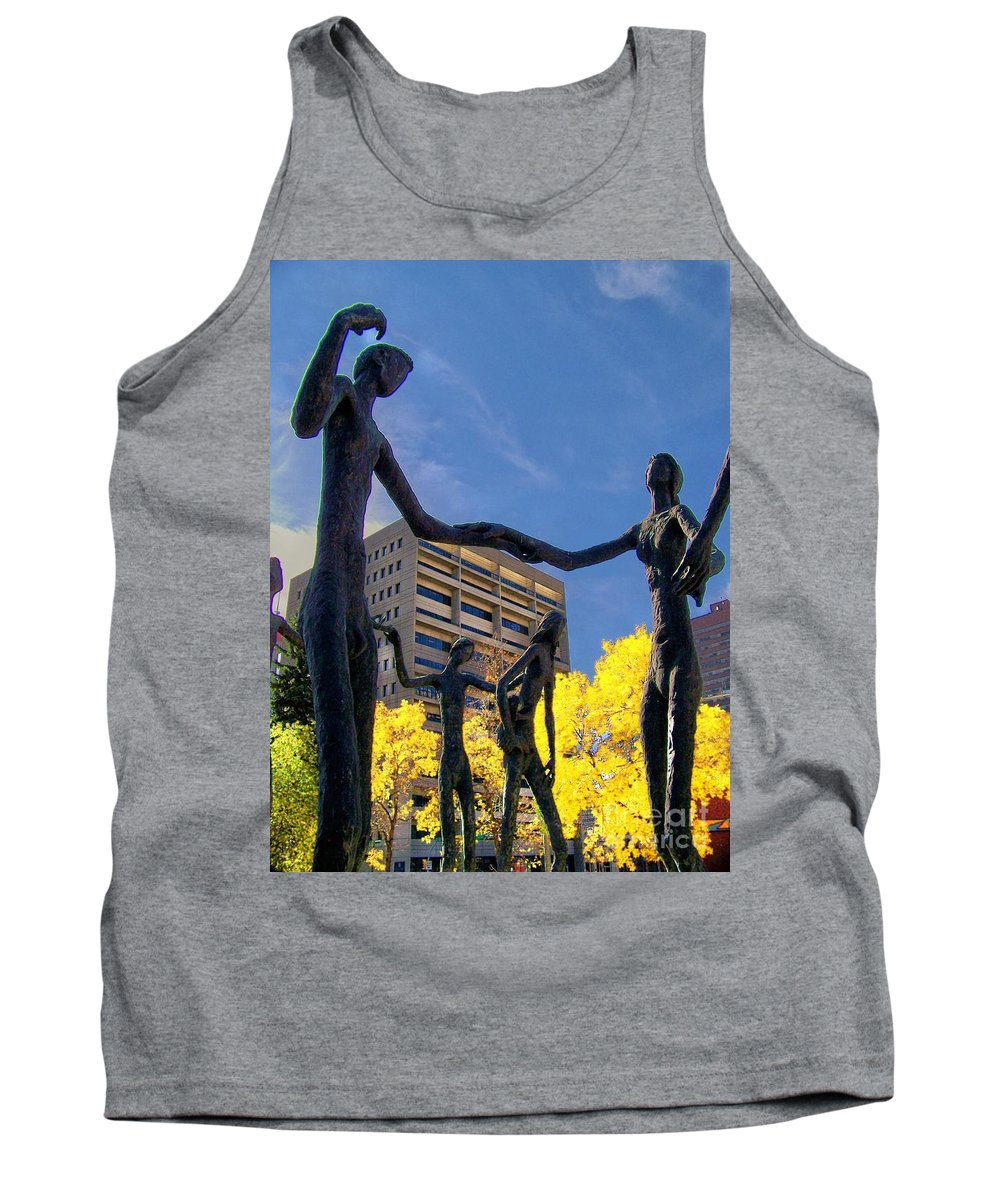 People Tank Top featuring the photograph Dancing In The Park by Greg Hammond