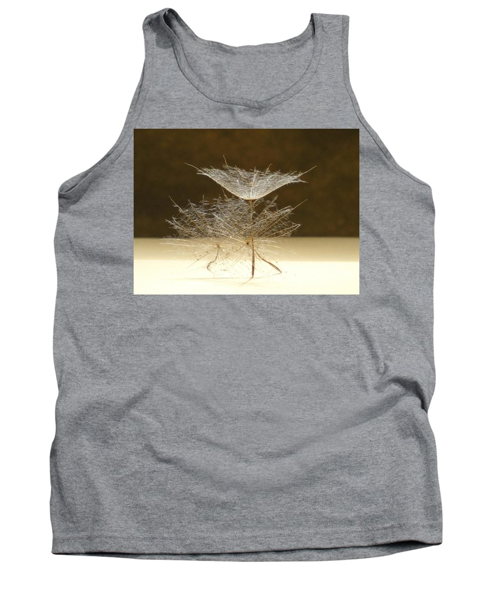Dandelion Tank Top featuring the photograph Dancing Seed Pods by Barbara St Jean