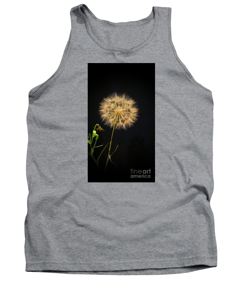 Dandelion Tank Top featuring the photograph Dandelion Thirty Nine by LKB Art and Photography