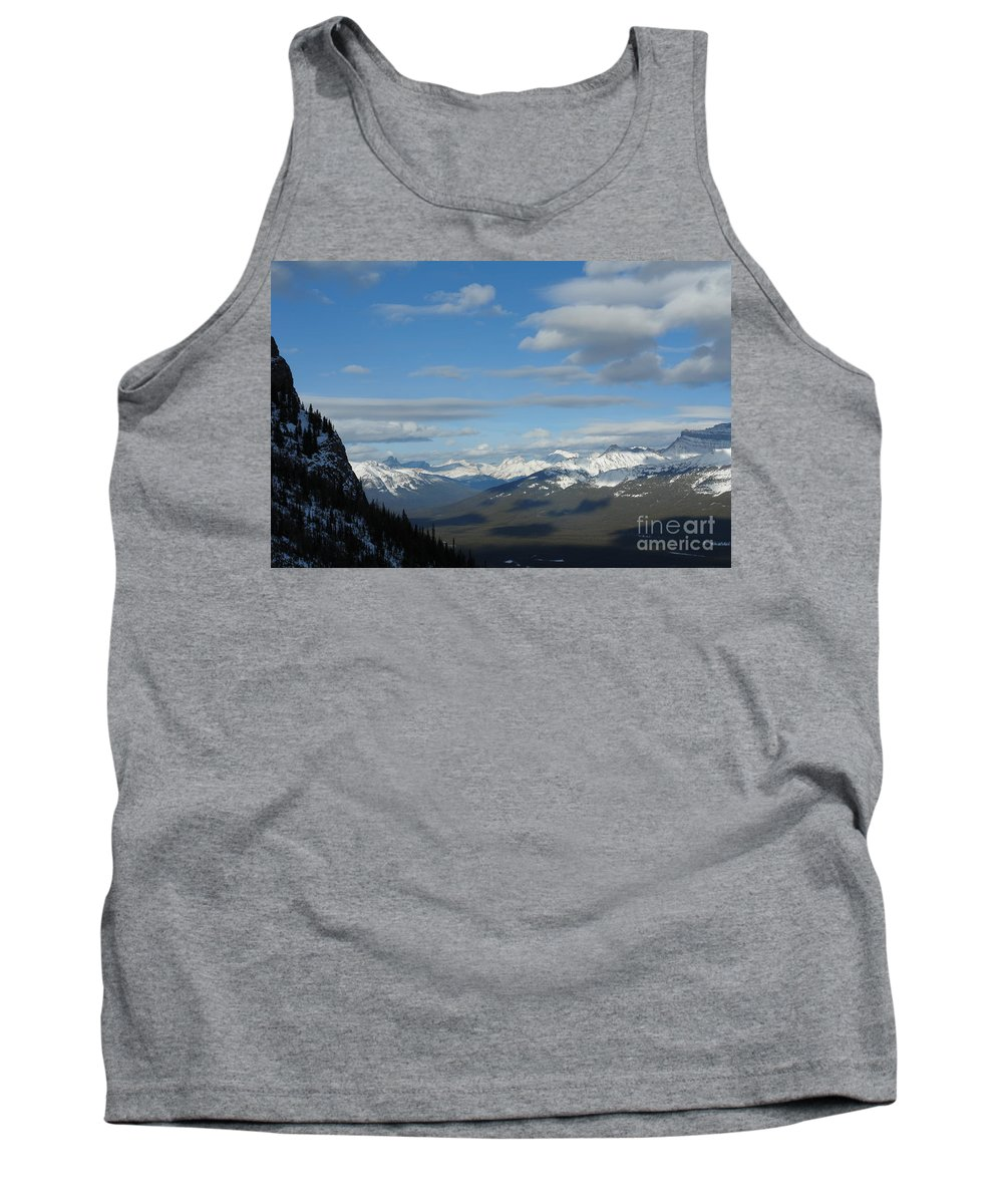 Dappled Slopes Tank Top featuring the photograph Dappled Slopes by Greg Hammond