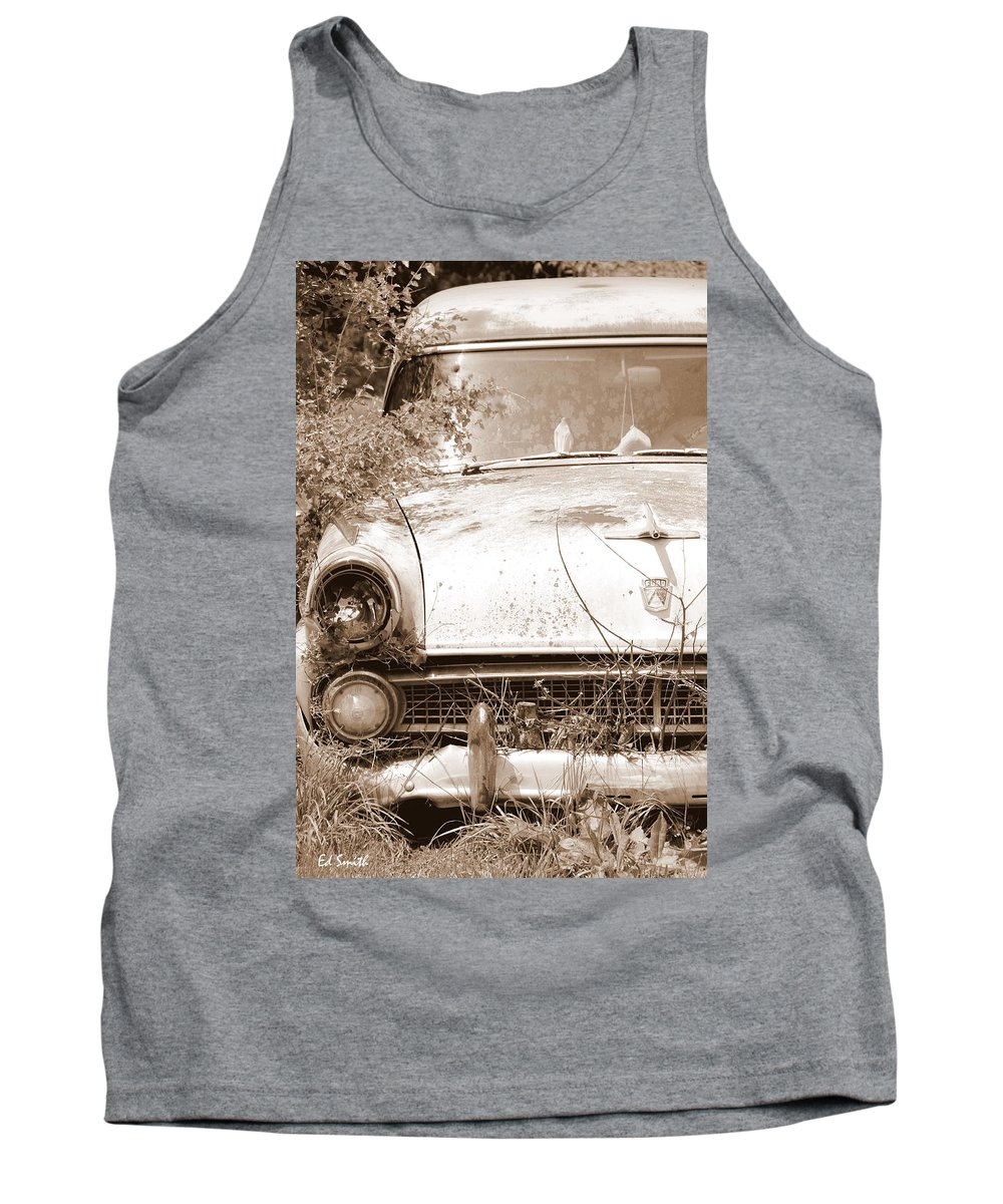 Dashboard Jesus Tank Top featuring the photograph Dashboard Jesus by Ed Smith