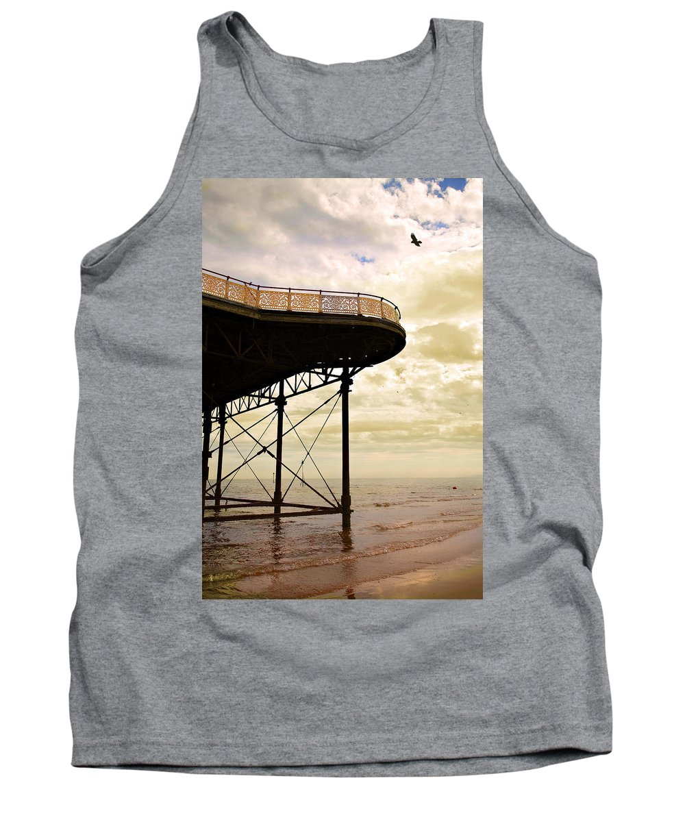 Victoria Tank Top featuring the photograph Dawn At Colwyn Bay Victoria Pier Conwy North Wales Uk by Mal Bray