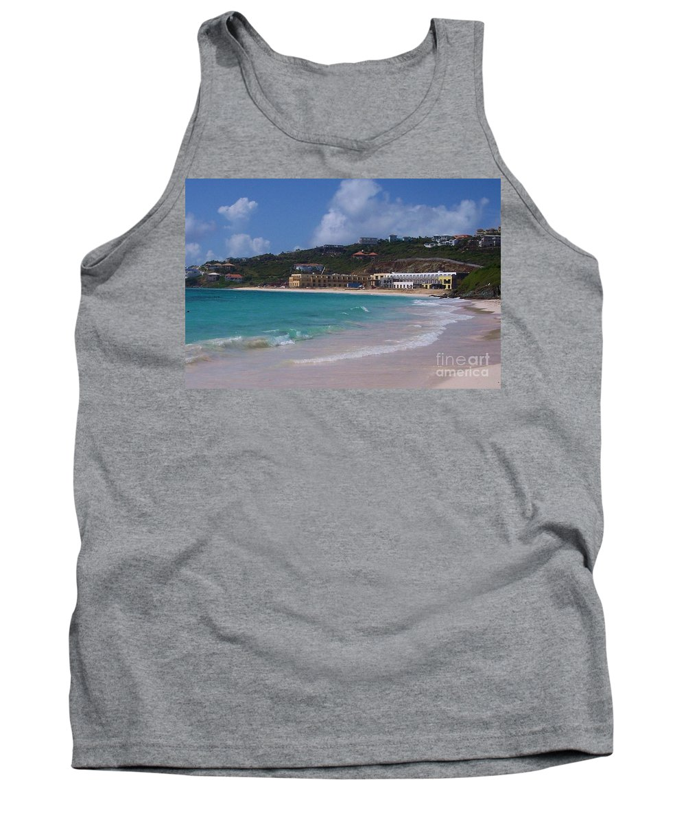 Dawn Beach Tank Top featuring the photograph Dawn Beach by Debbi Granruth