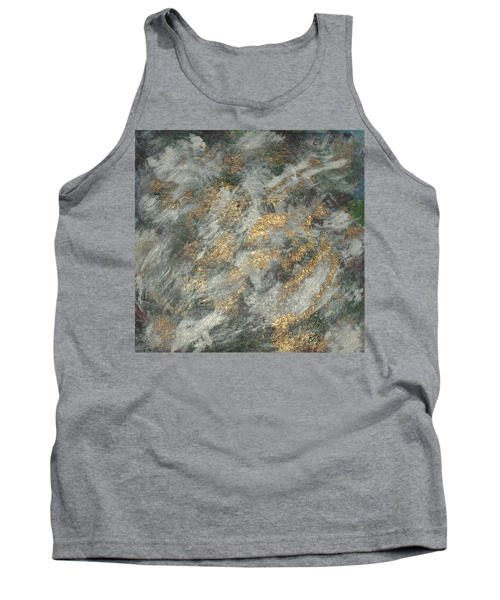 Abstract. Acrylic Paintings Tank Top featuring the painting Dawn Of The Bronze Age by John Krakora