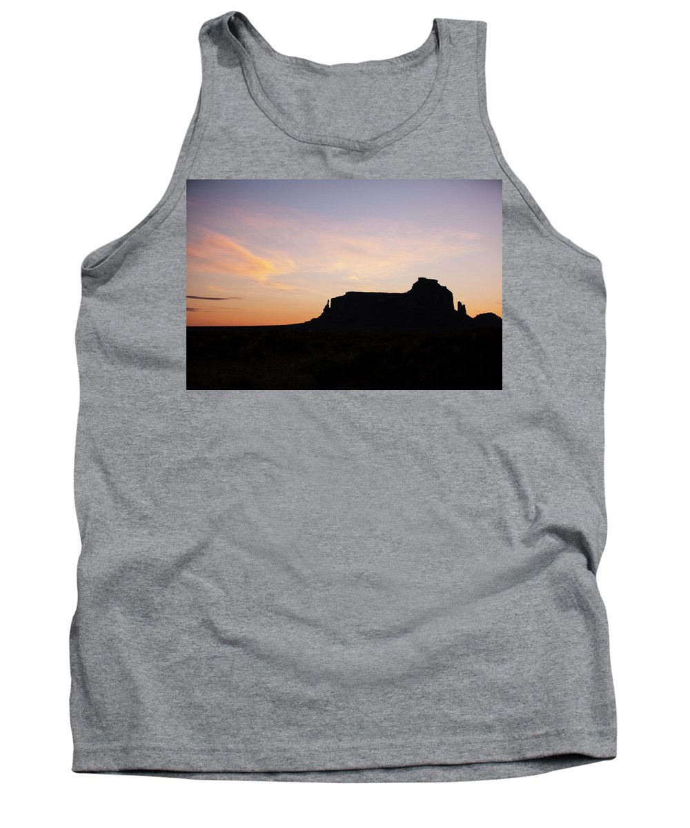 Dawn Tank Top featuring the photograph Dawn Over Monument Valley by Warren Still