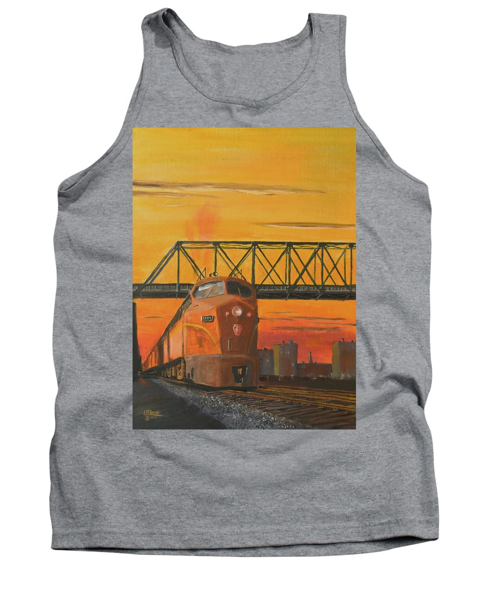 Train Tank Top featuring the painting Dawn Patrol by Christopher Jenkins