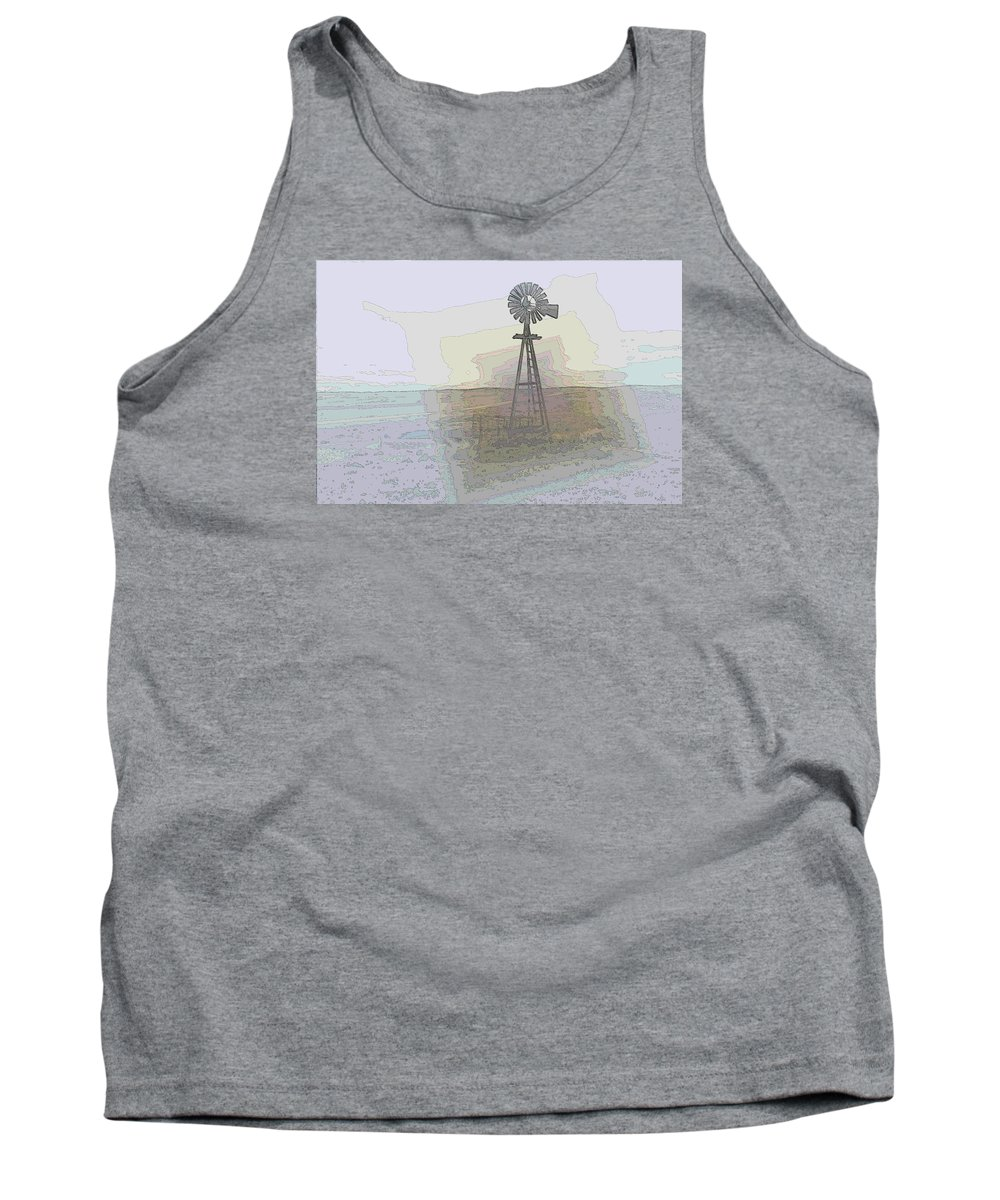 Windmill Tank Top featuring the photograph Days Of Wind by Jeff Swan