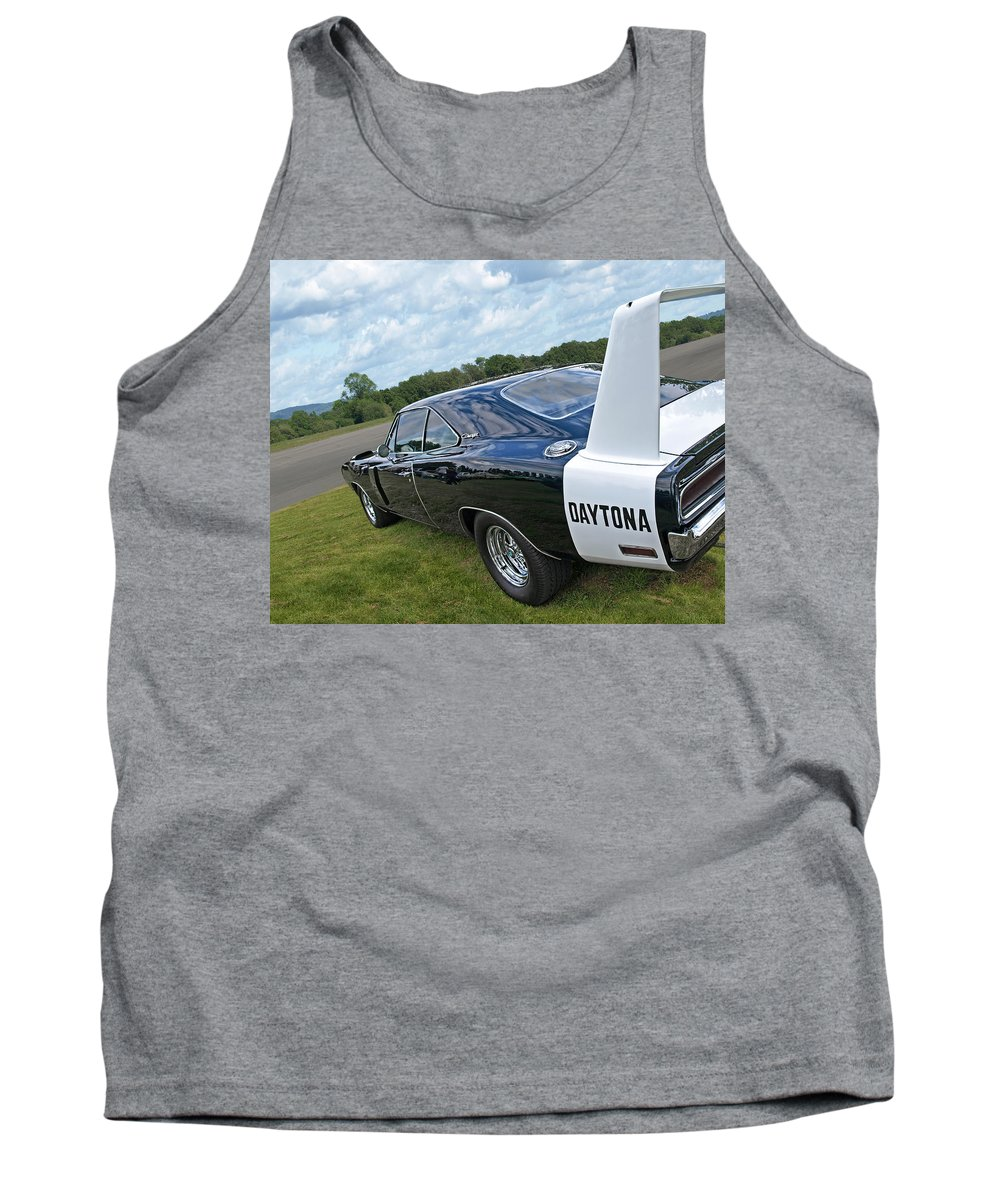 Dodge Charger Tank Top featuring the photograph Daytona Charger by Gill Billington