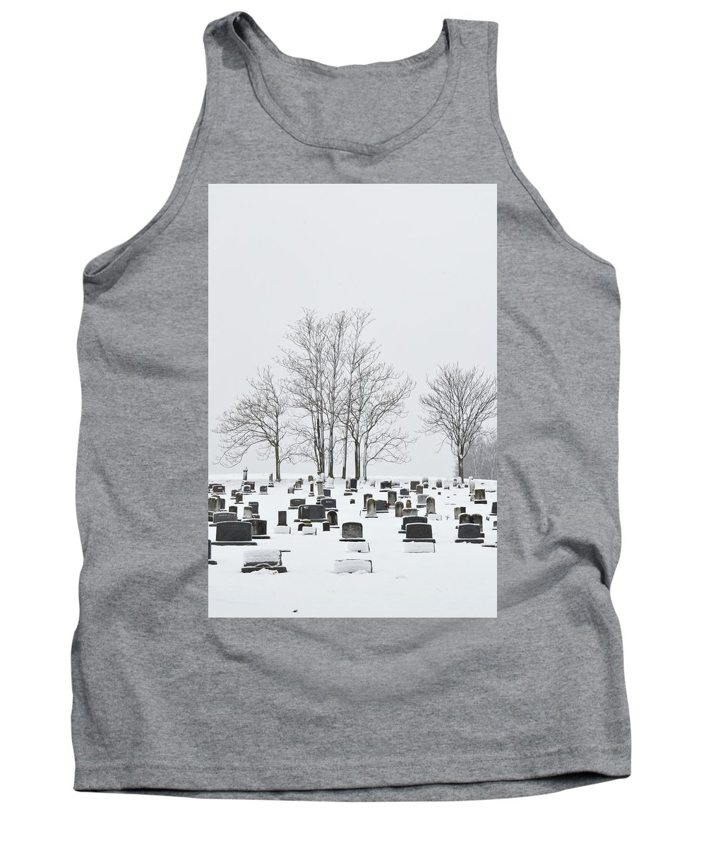 Snow Tank Top featuring the photograph Dead Of Winter by Philip LeVee