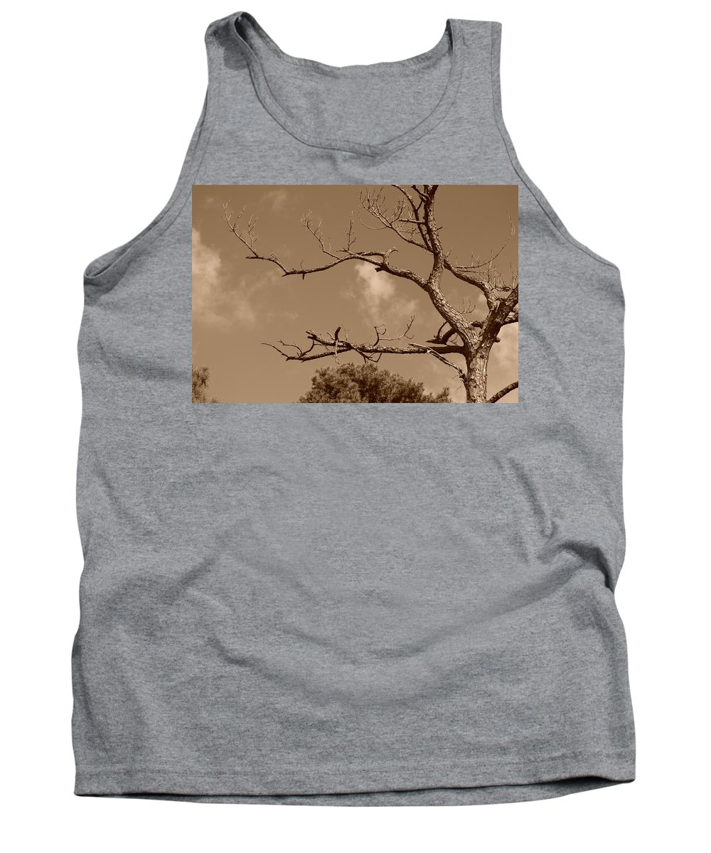 Sepia Tank Top featuring the photograph Dead Wood by Rob Hans