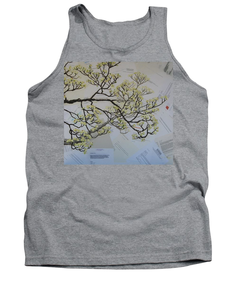 Collage Tank Top featuring the painting Dear Artist by Leah Tomaino