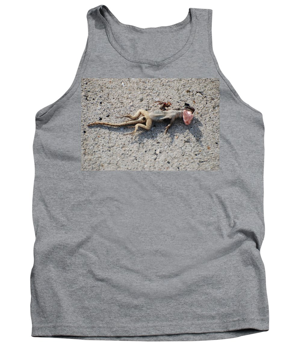 Lizards Tank Top featuring the photograph Death By Gum by Rob Hans