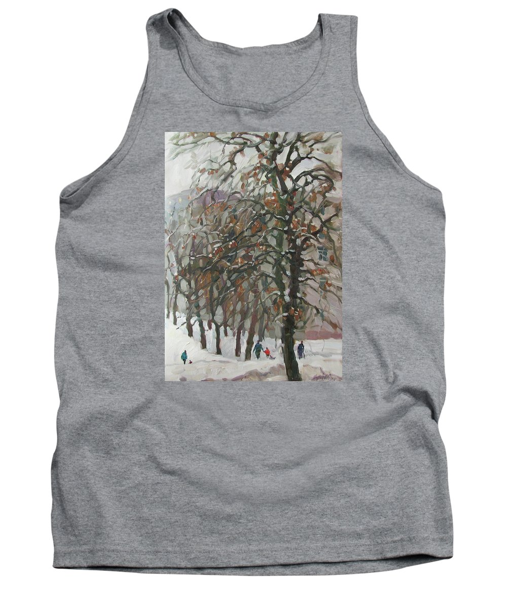 December Tank Top featuring the painting December by Juliya Zhukova