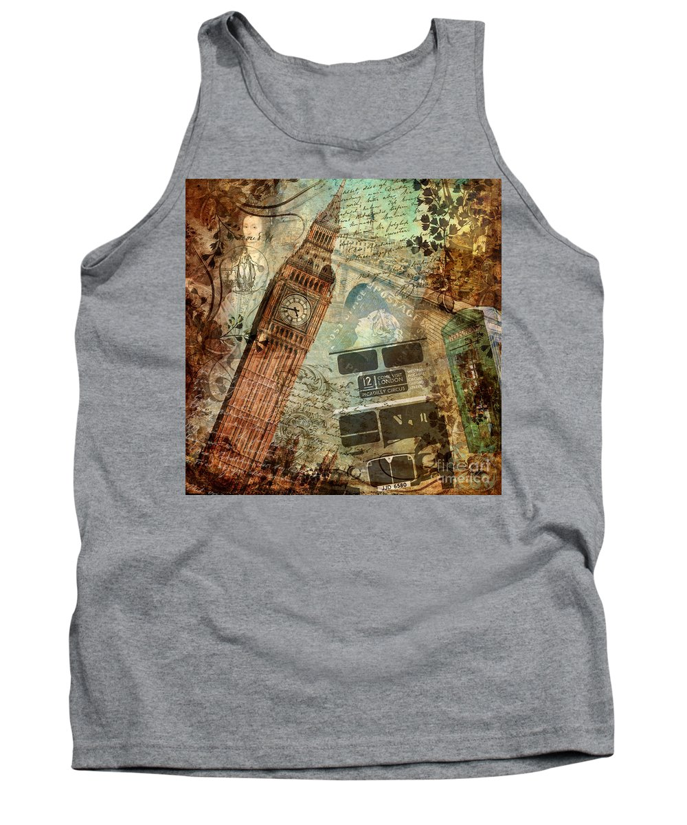 London Tank Top featuring the painting Destination London by Mindy Sommers