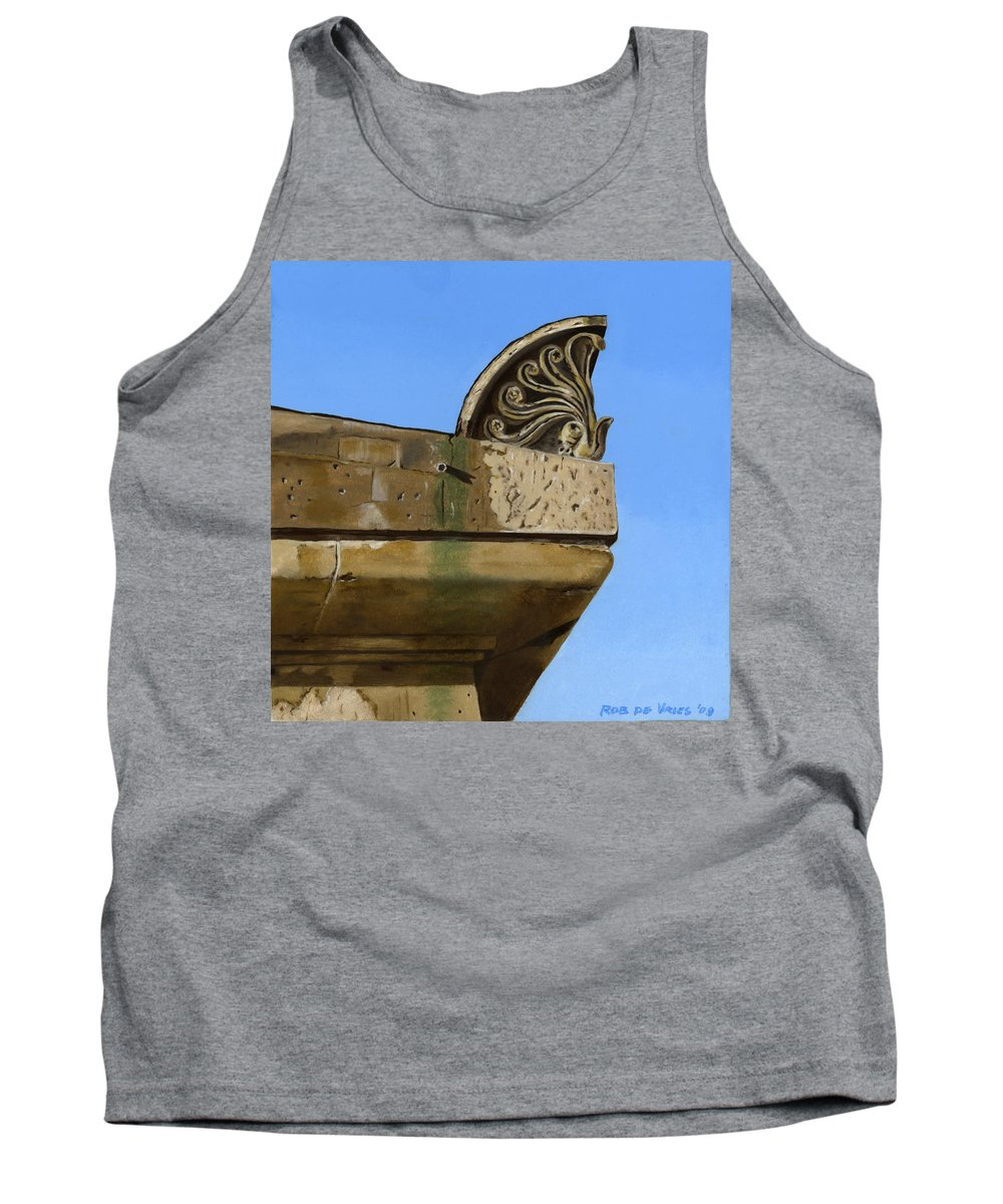 Building Tank Top featuring the painting Detail Lighthouse Egmond by Rob De Vries