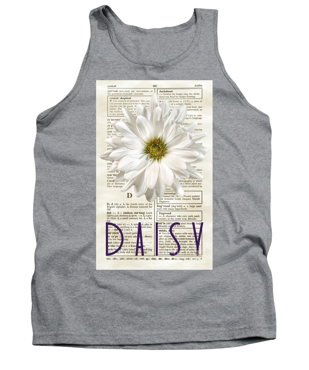 Dictionary Tank Top featuring the photograph Dictionary Daisy by Diane LaPreta
