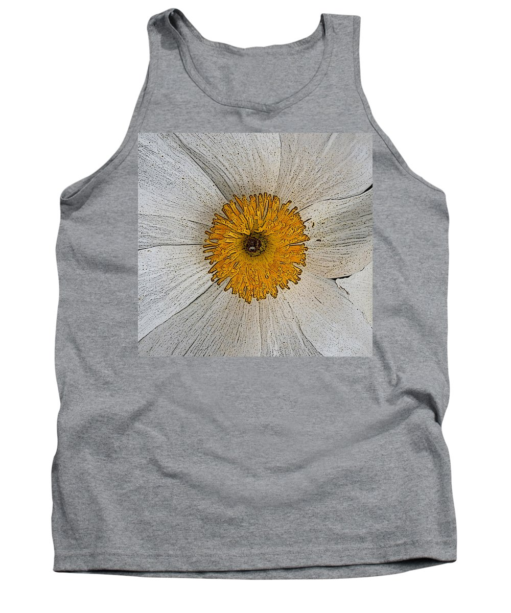 Digital Tank Top featuring the photograph Digital Poppy by Marna Edwards Flavell