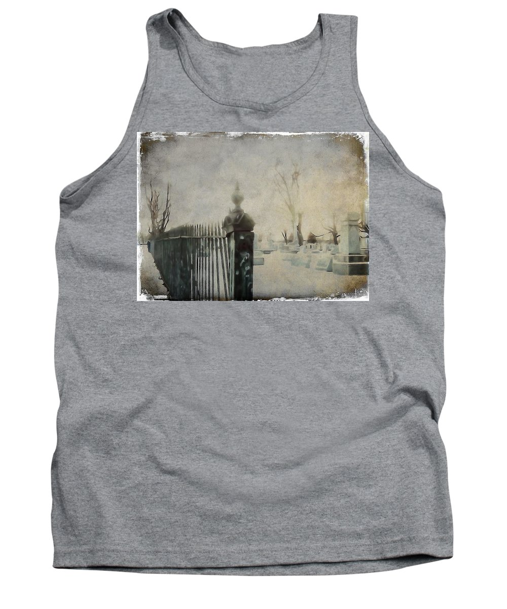 Graveyard Tank Top featuring the photograph Dim Gothic Blur by Gothicrow Images