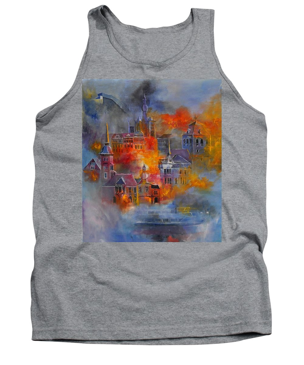 Urban Landscape Tank Top featuring the painting Dinant 670150 by Pol Ledent