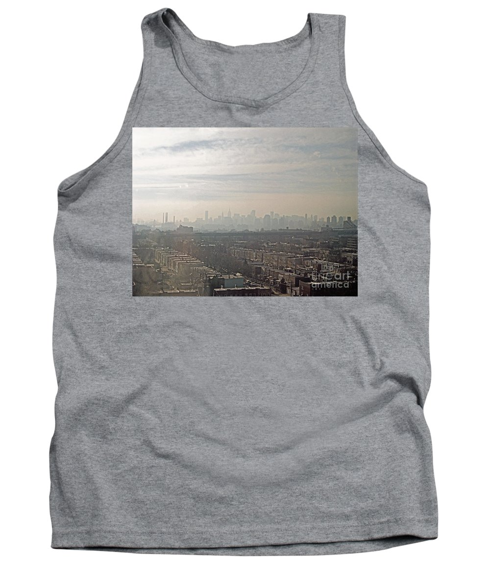 Brooklyn Tank Top featuring the photograph Distant City by Paulette B Wright