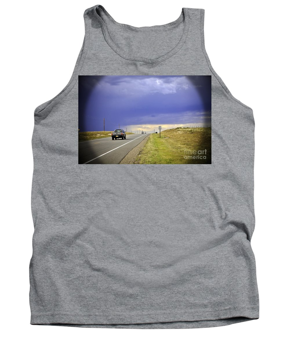 Automobile Tank Top featuring the photograph Do Not Pass by Madeline Ellis