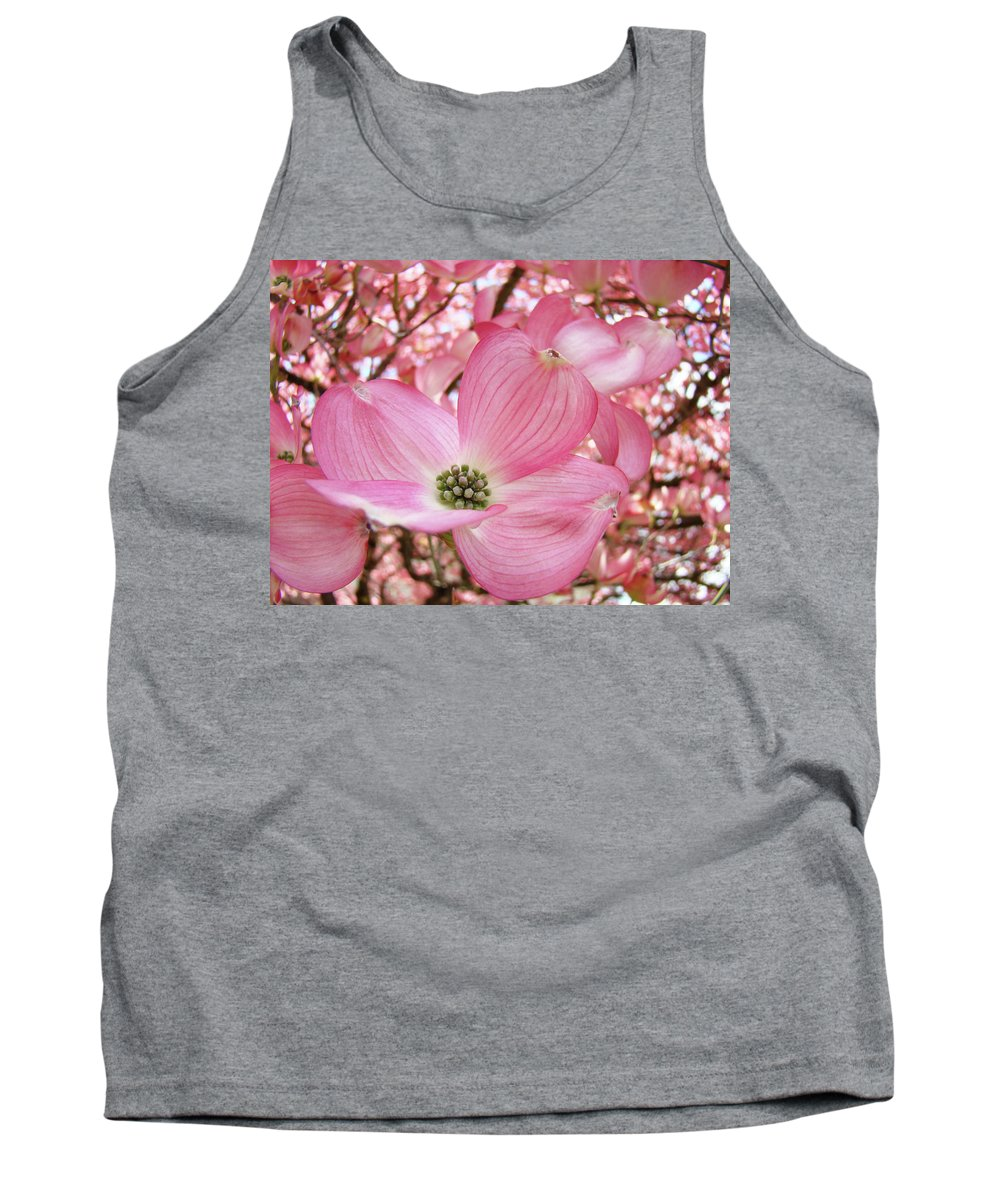 Dogwood Tank Top featuring the photograph Dogwood Tree 1 Pink Dogwood Flowers Artwork Art Prints Canvas Framed Cards by Baslee Troutman