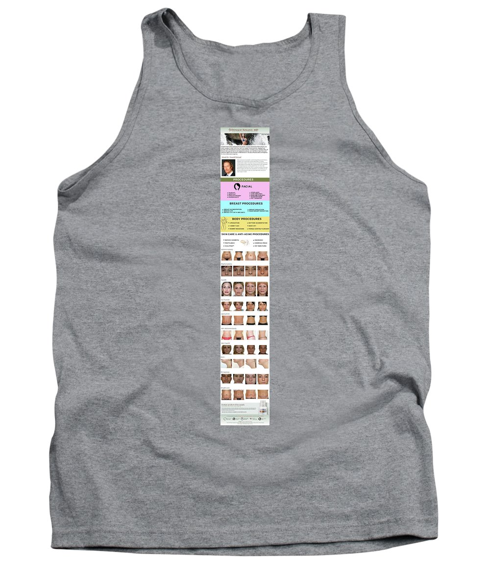 Fat Transfer Nyc Tank Top featuring the pyrography Donald Roland, Md Infographics by Shawn Hawkins