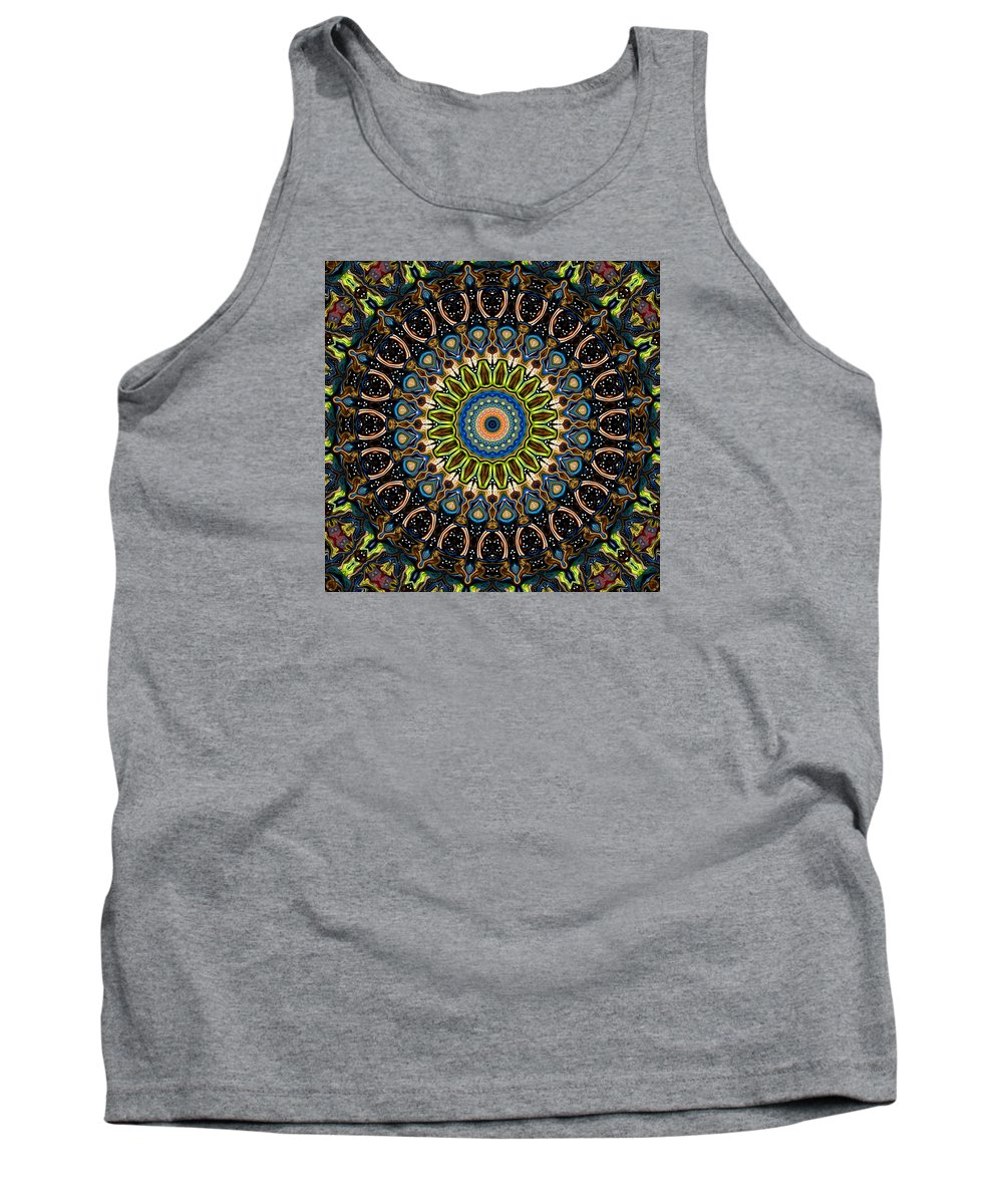 Digital Tank Top featuring the digital art Dotted Wishes No. 4 Kaleidoscope by Joy McKenzie