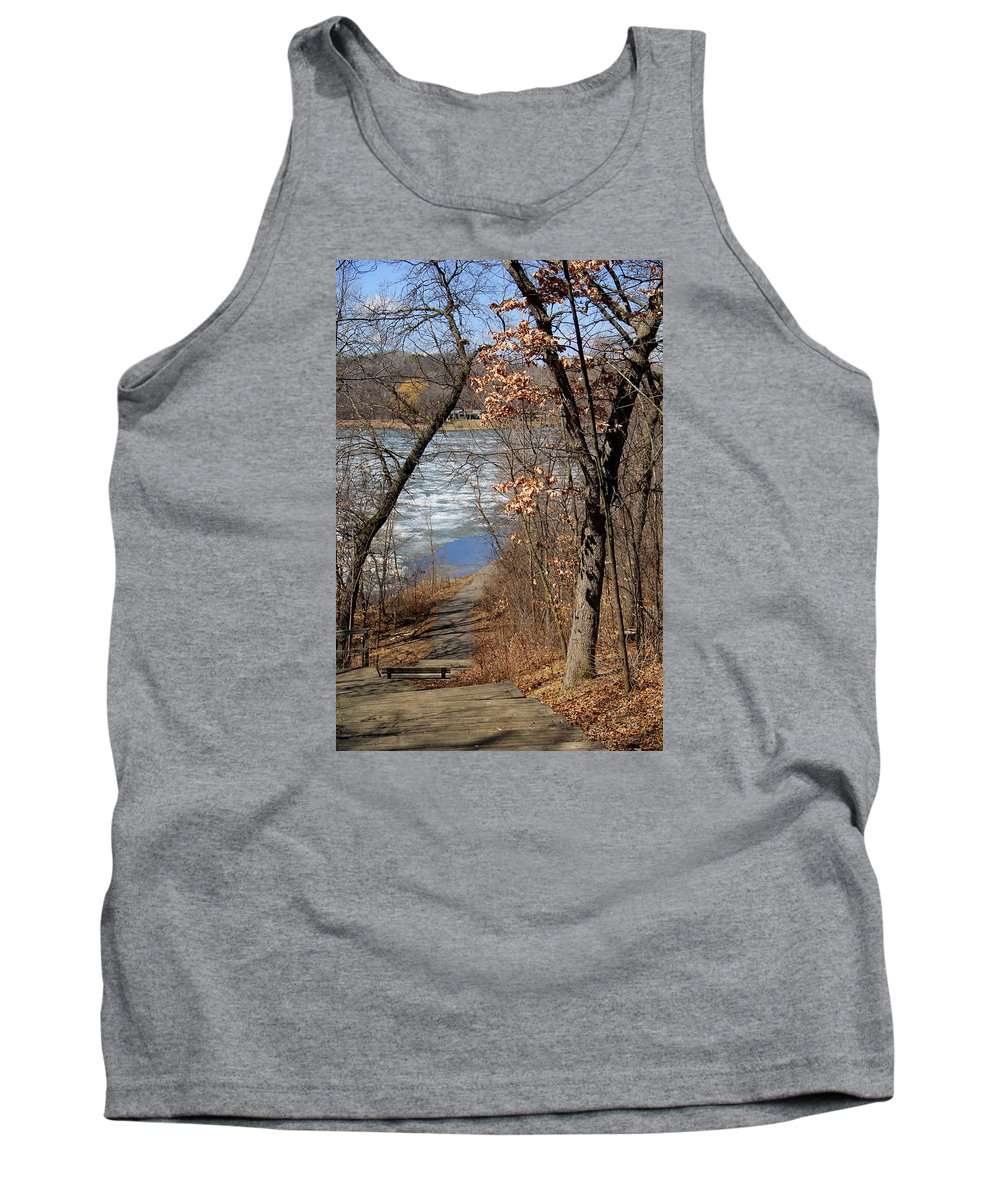 Lake Tank Top featuring the photograph Down The Path by Jocelyn Lawton