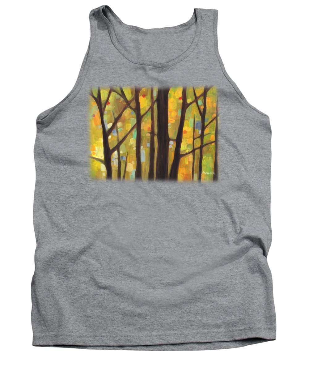 Dreaming Tank Top featuring the painting Dreaming Trees 1 by Hailey E Herrera