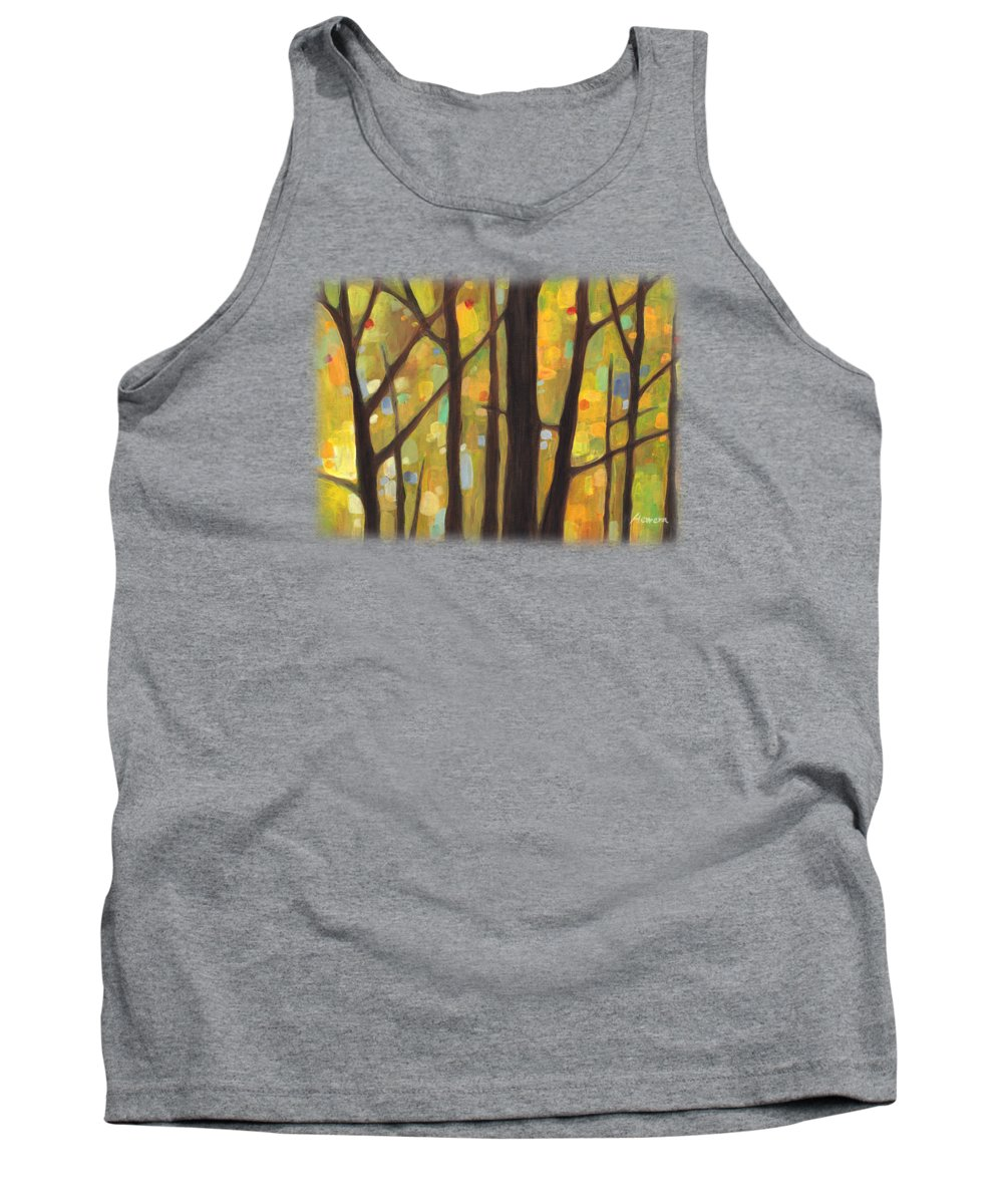 Acrylic Landscape Paintings Tank Tops