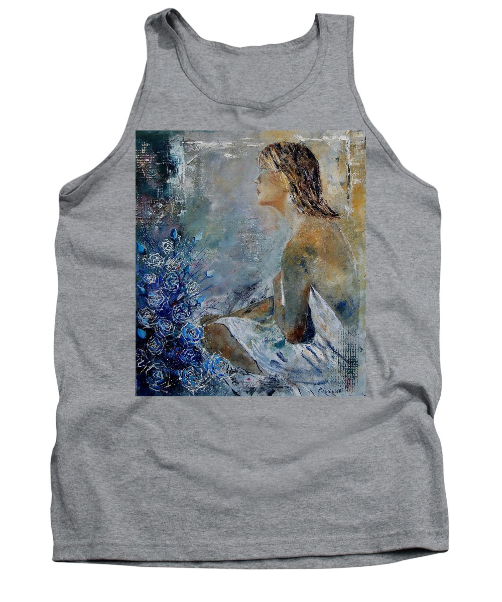 Girl Tank Top featuring the painting Dreaming Young Girl by Pol Ledent