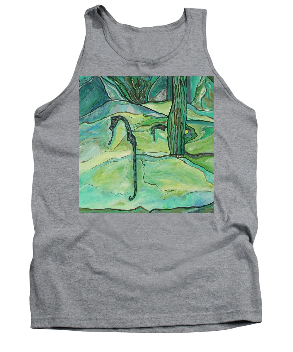 Seahorse Tank Top featuring the painting Drifting Seahorse by Heather Lennox