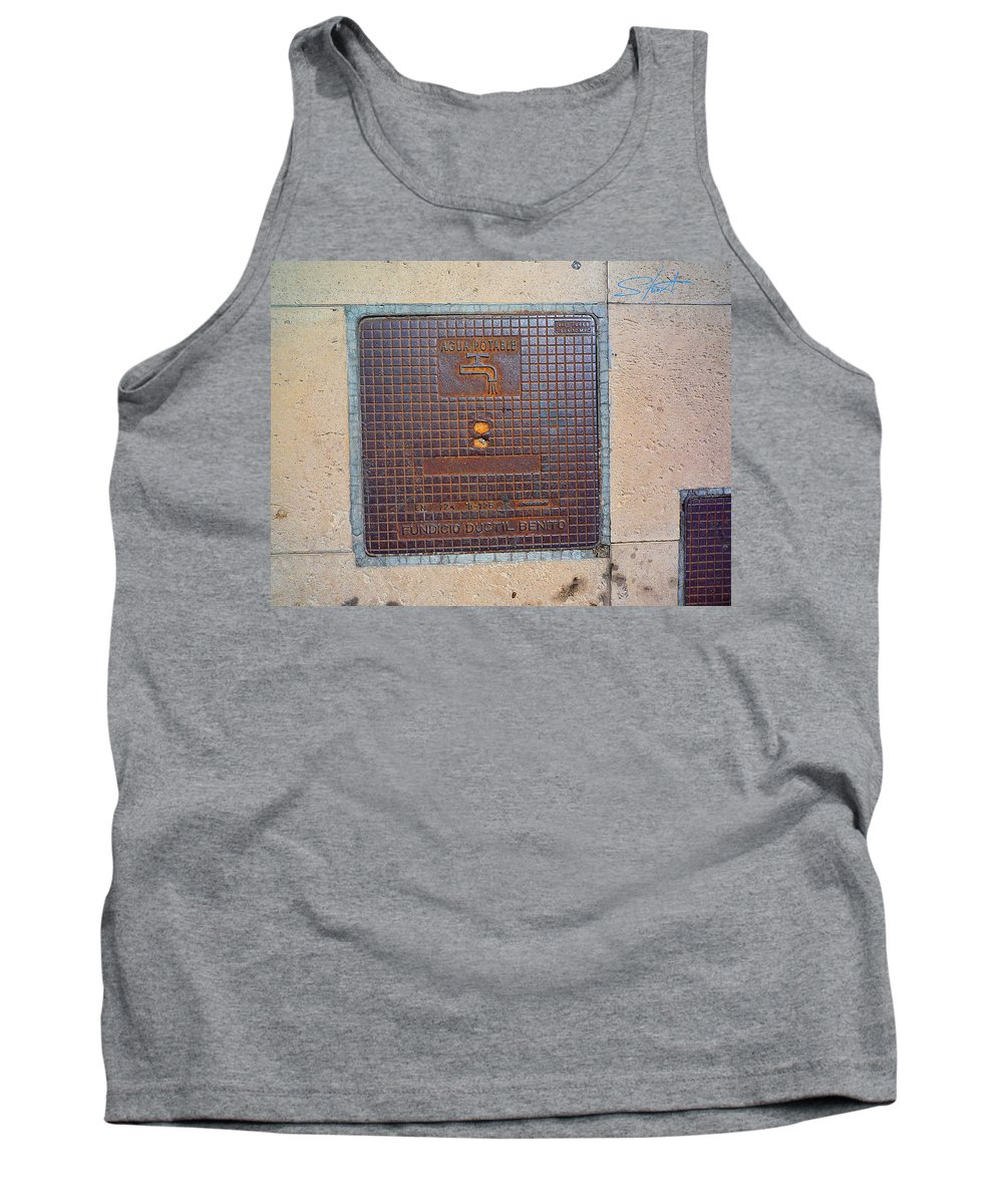 Fishing Net Tank Top featuring the photograph Drinking Water by Charles Stuart