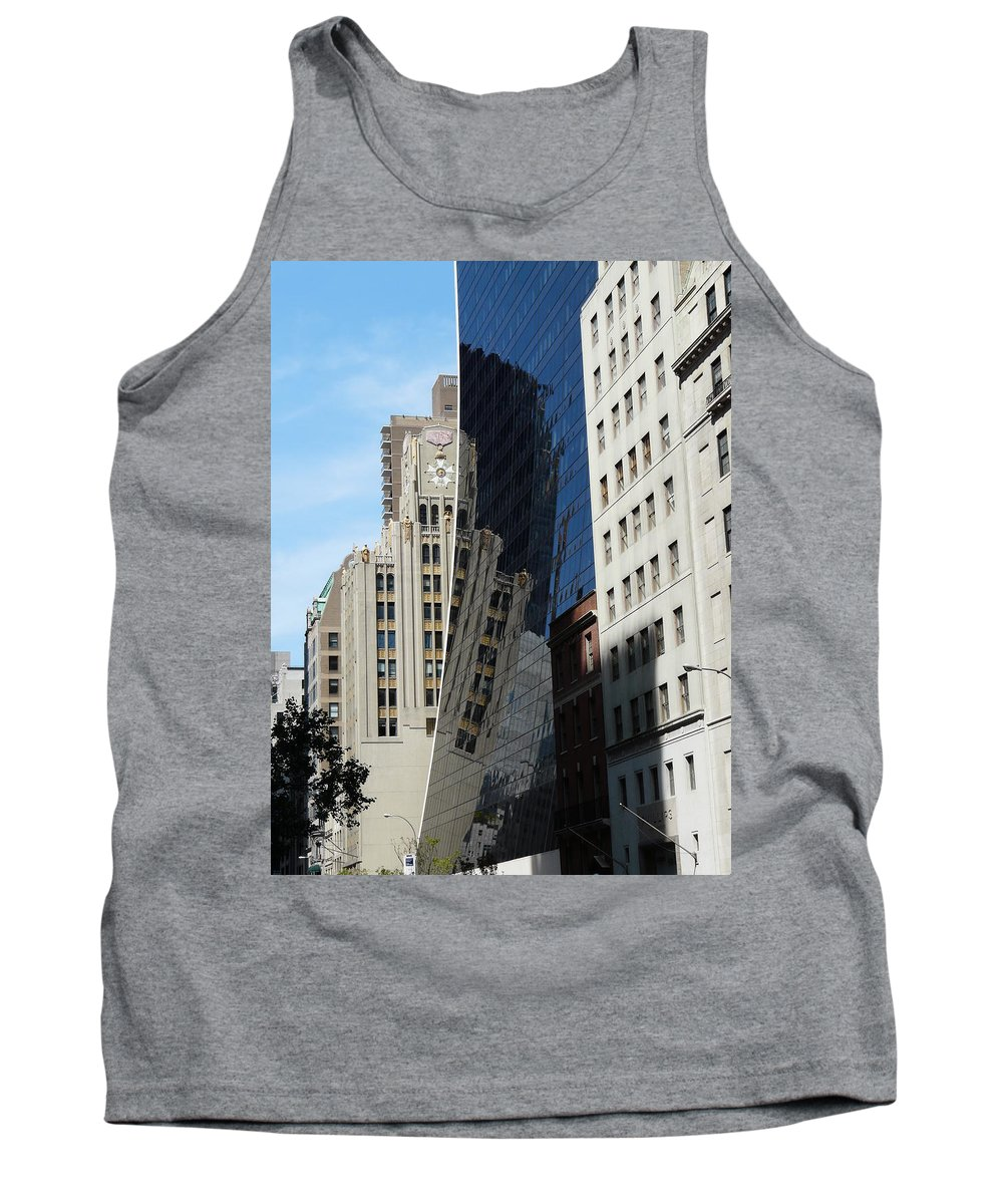 New York Tank Top featuring the photograph Drowning By Reflection by Valerie Ornstein