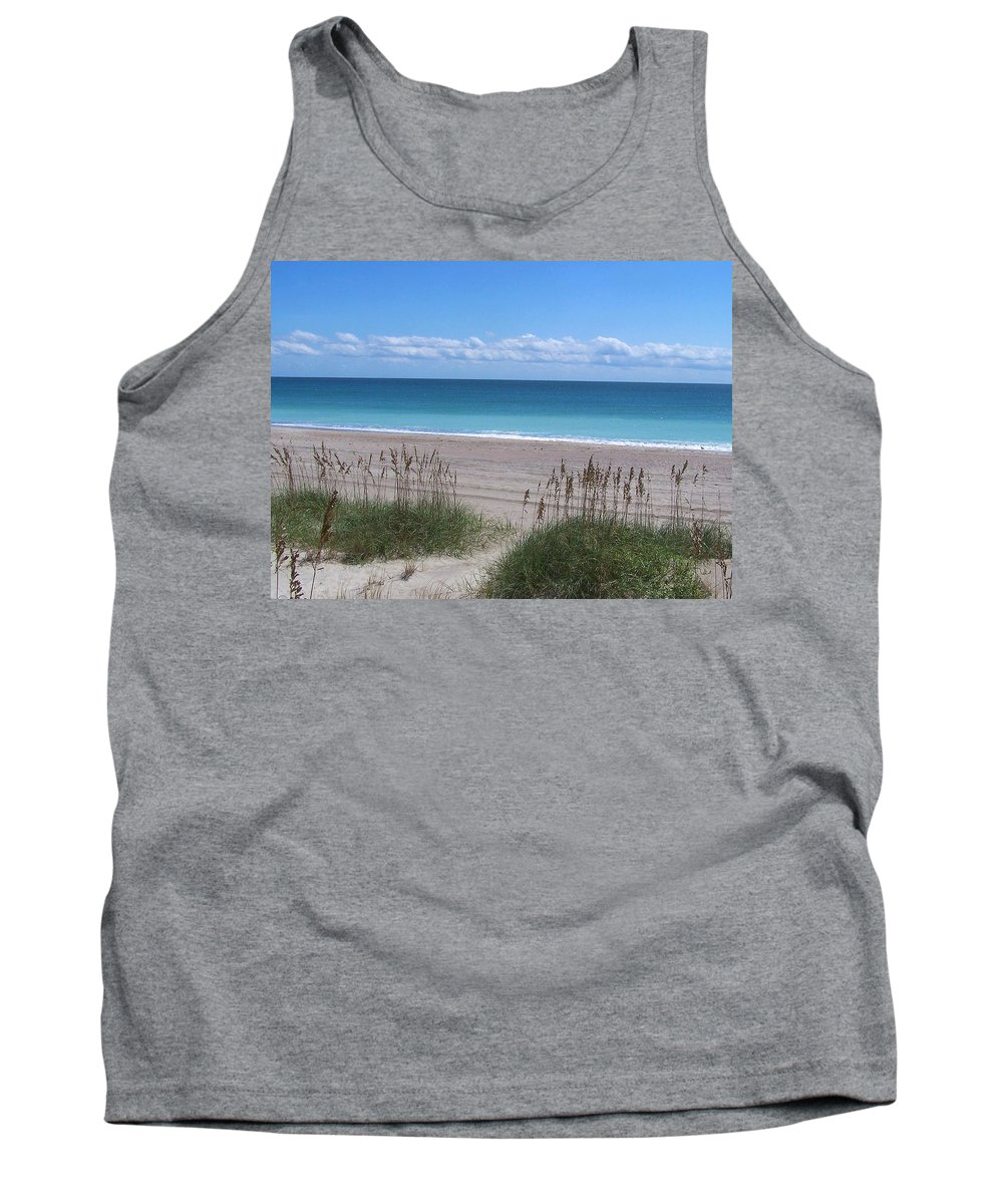 Beach Tank Top featuring the photograph Dunes On The Outerbanks by Sandi OReilly