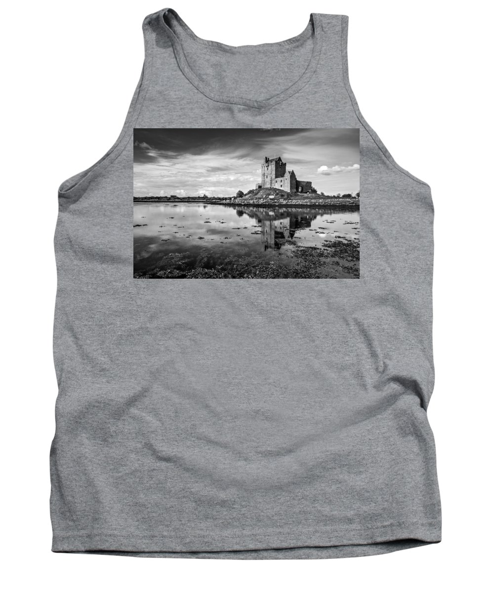 Dunguaire Castle Tank Top featuring the photograph Dunguaire Castle In Black And White by Pierre Leclerc Photography